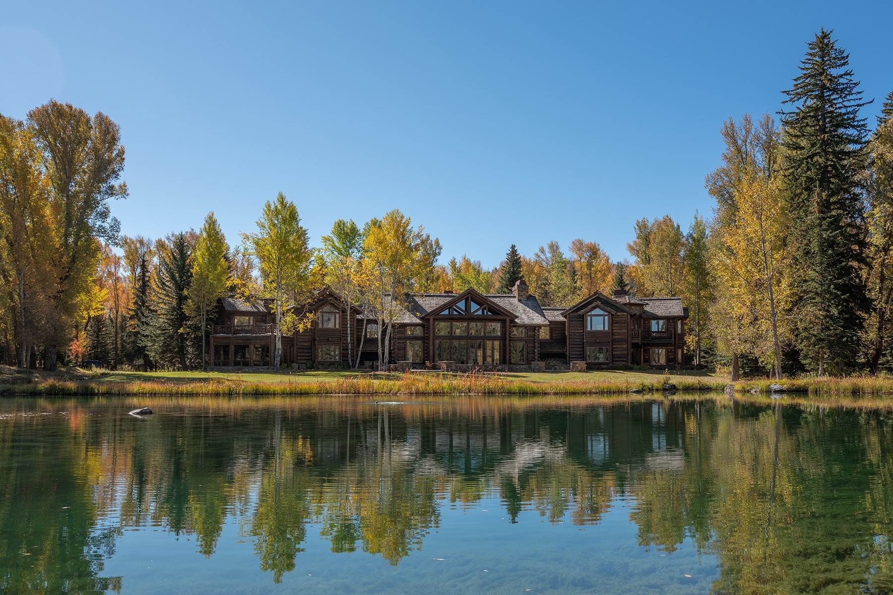 Single Family Homes for Sale at Elk Run Estate 1345/1245 Bugling Elk Trail Jackson, Wyoming 83001 United States