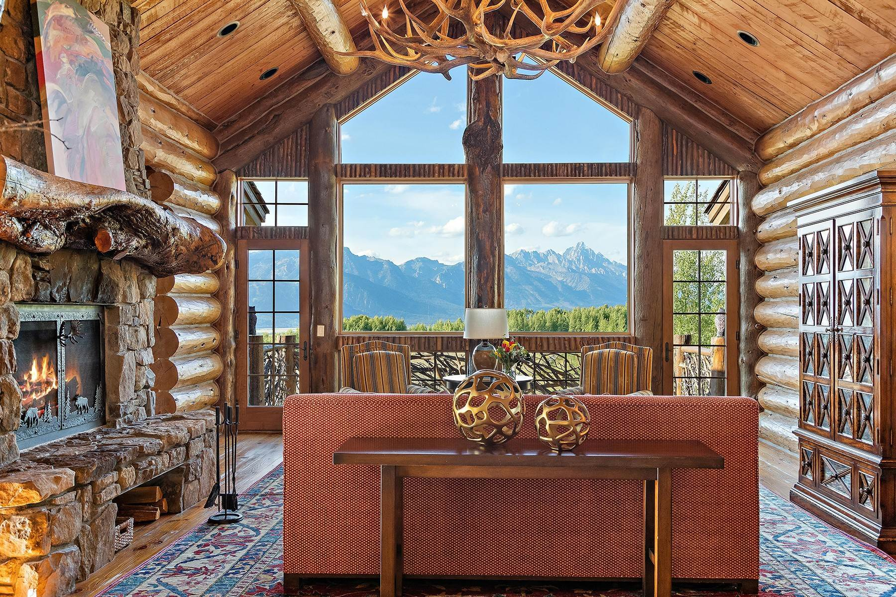43. Single Family Homes for Sale at Riva Ridge Retreat, Residence of Western Grandeur 3000 Riva Ridge Road Jackson, Wyoming 83001 United States