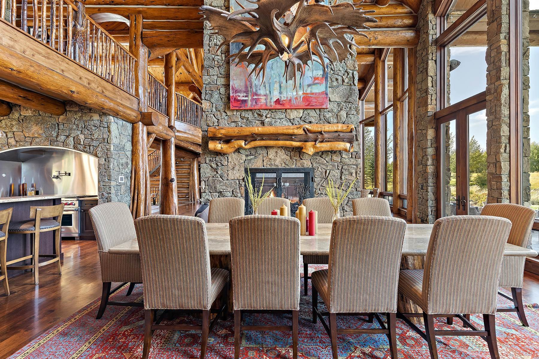 10. Single Family Homes for Sale at Riva Ridge Retreat, Residence of Western Grandeur 3000 Riva Ridge Road Jackson, Wyoming 83001 United States