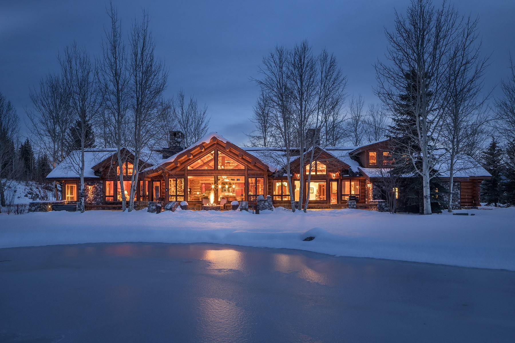 4. Single Family Homes for Sale at 6670 Lower Cascade Drive Jackson, Wyoming 83001 United States