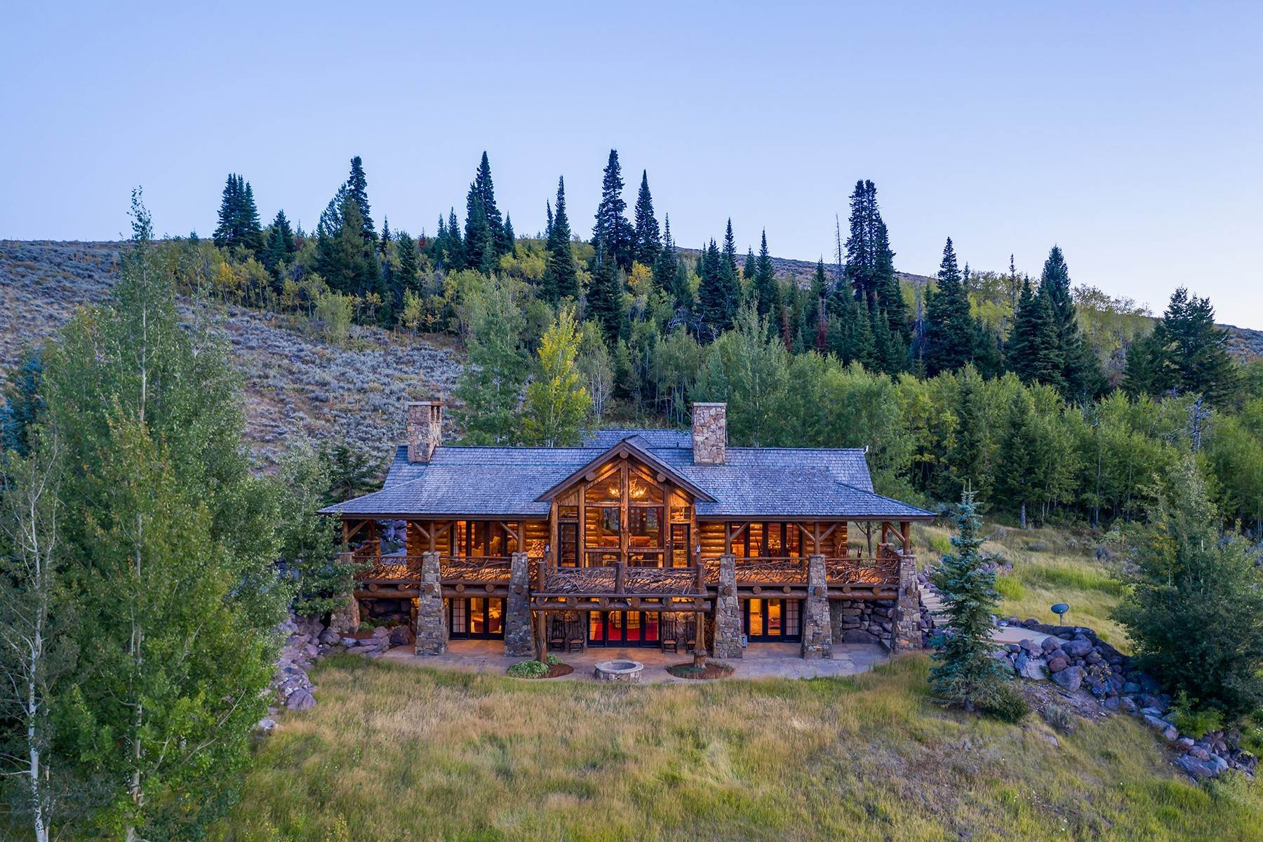 38. Single Family Homes for Sale at Riva Ridge Retreat, Residence of Western Grandeur 3000 Riva Ridge Road Jackson, Wyoming 83001 United States