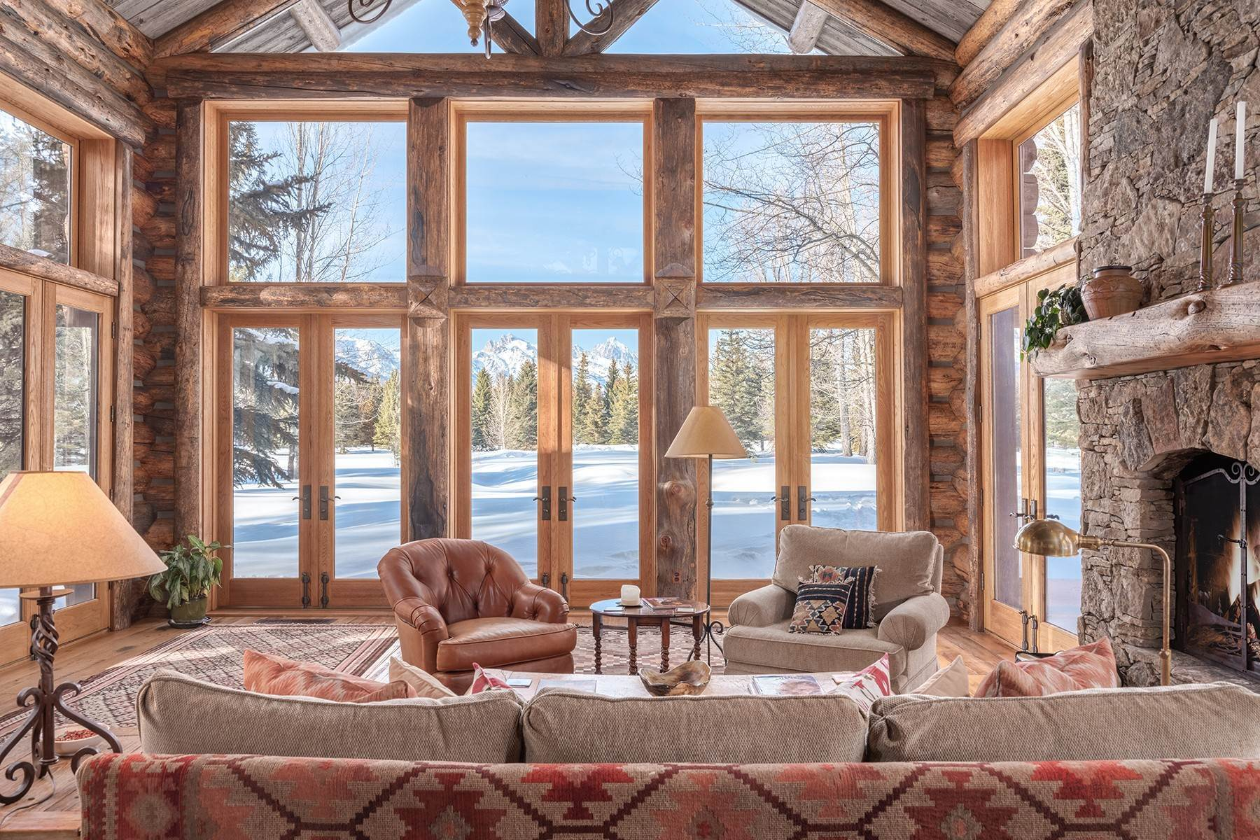 46. Single Family Homes for Sale at Elk Run Estate 1345/1245 Bugling Elk Trail Jackson, Wyoming 83001 United States