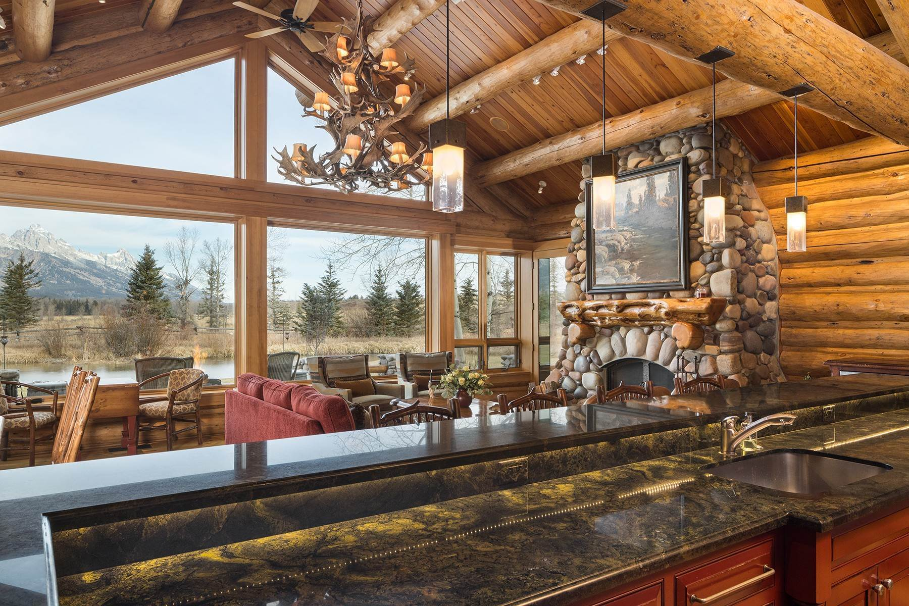 9. Single Family Homes for Sale at 6670 Lower Cascade Drive Jackson, Wyoming 83001 United States
