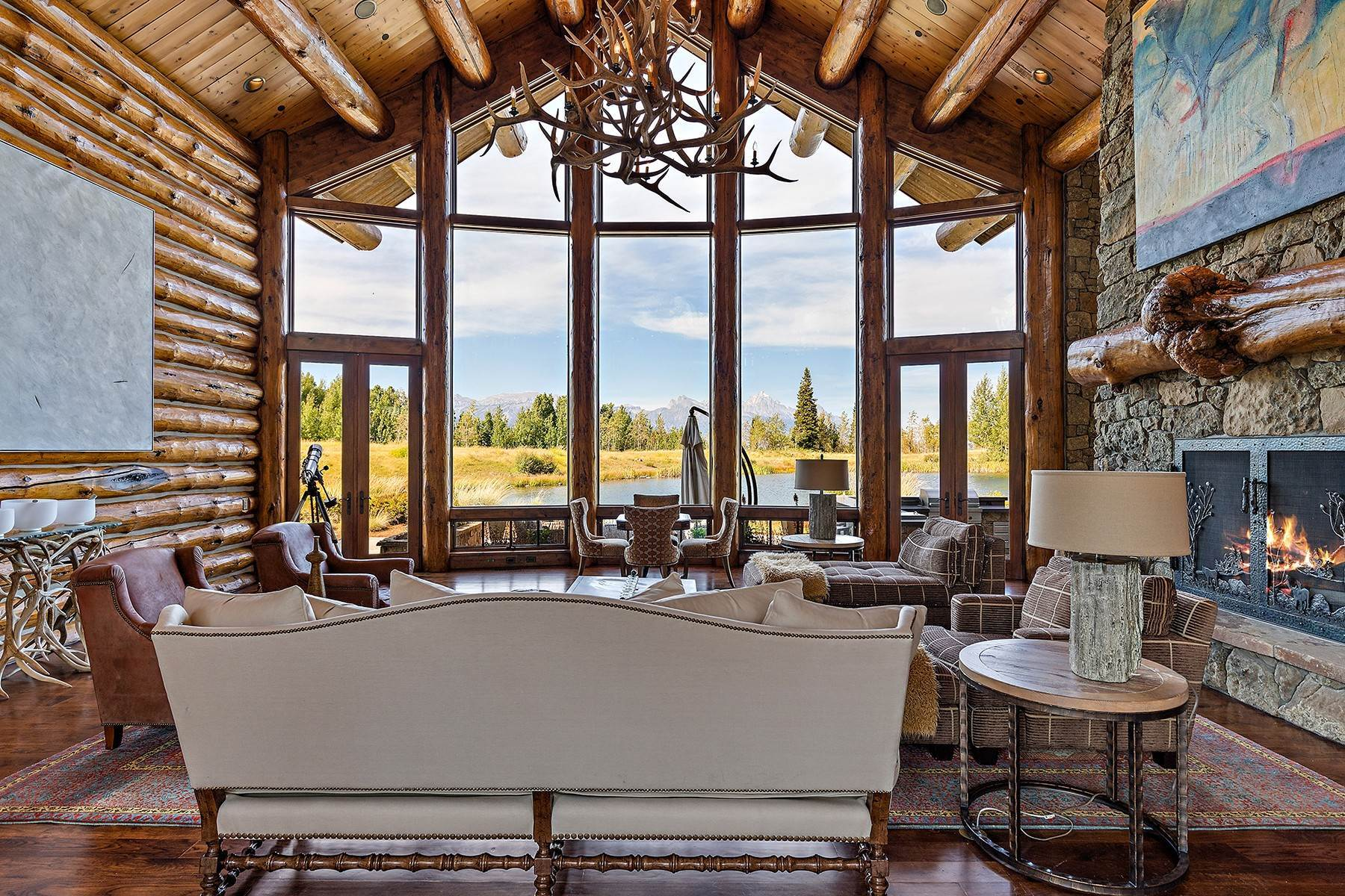 8. Single Family Homes for Sale at Riva Ridge Retreat, Residence of Western Grandeur 3000 Riva Ridge Road Jackson, Wyoming 83001 United States