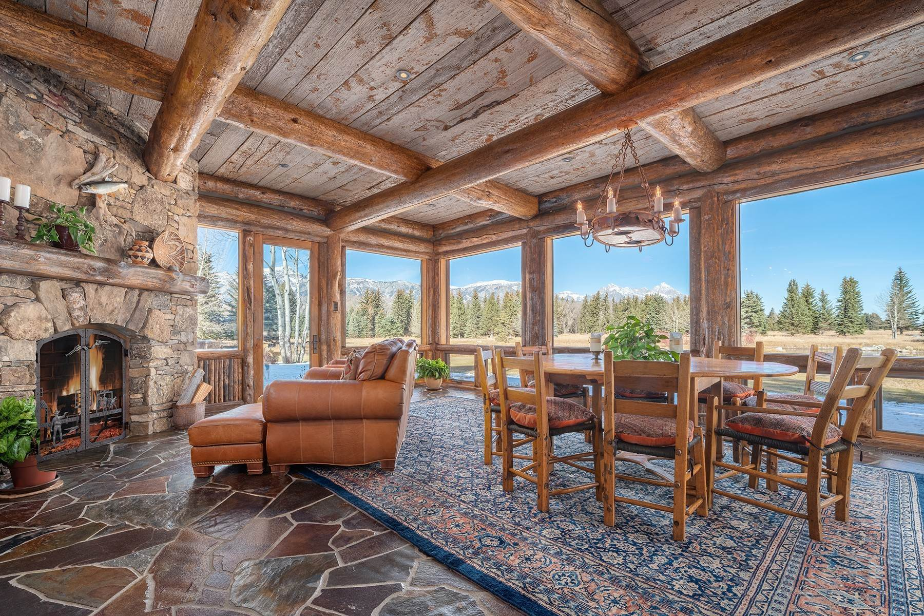 19. Single Family Homes for Sale at Elk Run Estate 1345/1245 Bugling Elk Trail Jackson, Wyoming 83001 United States