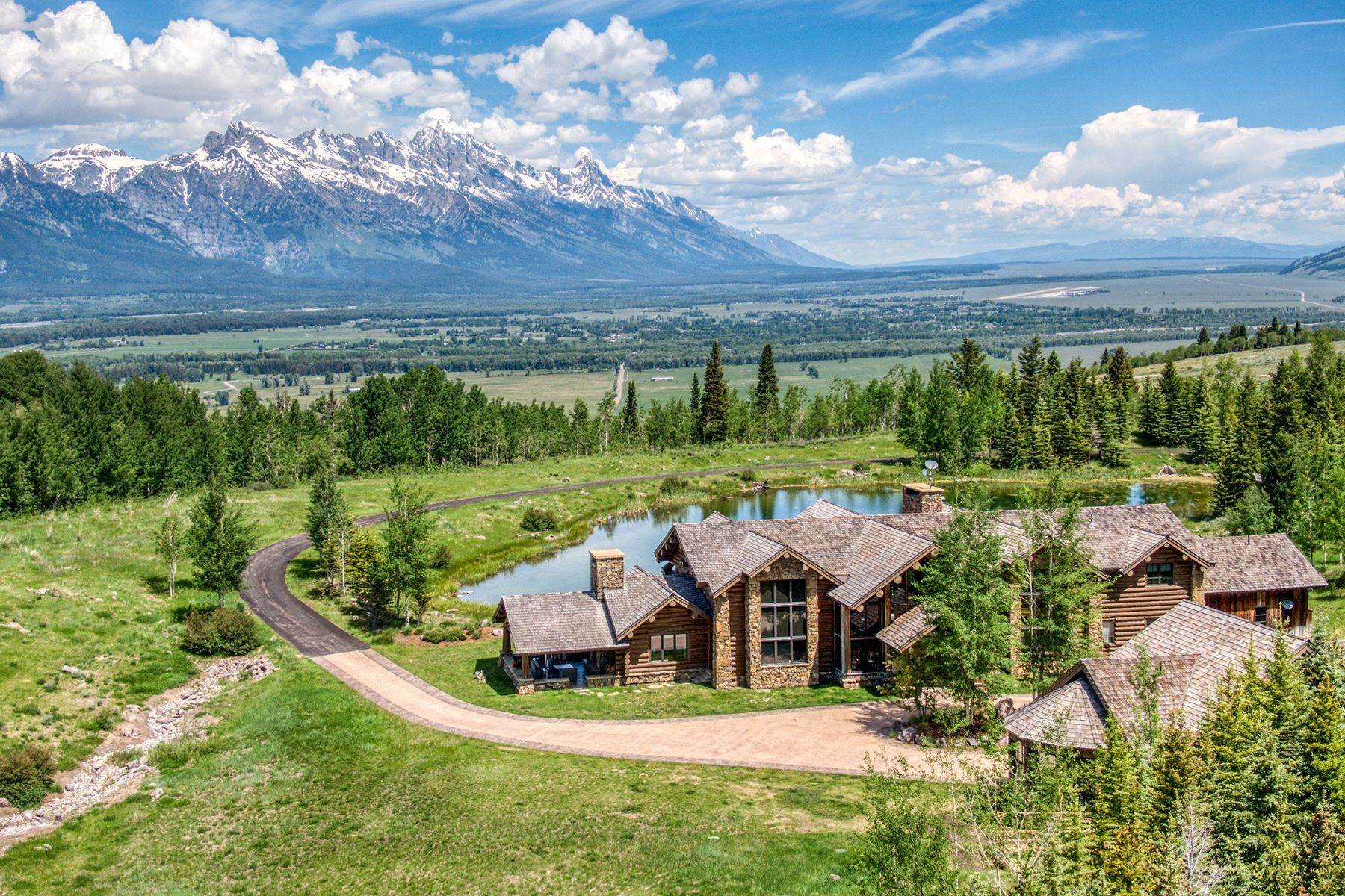 2. Single Family Homes for Sale at Riva Ridge Retreat, Residence of Western Grandeur 3000 Riva Ridge Road Jackson, Wyoming 83001 United States