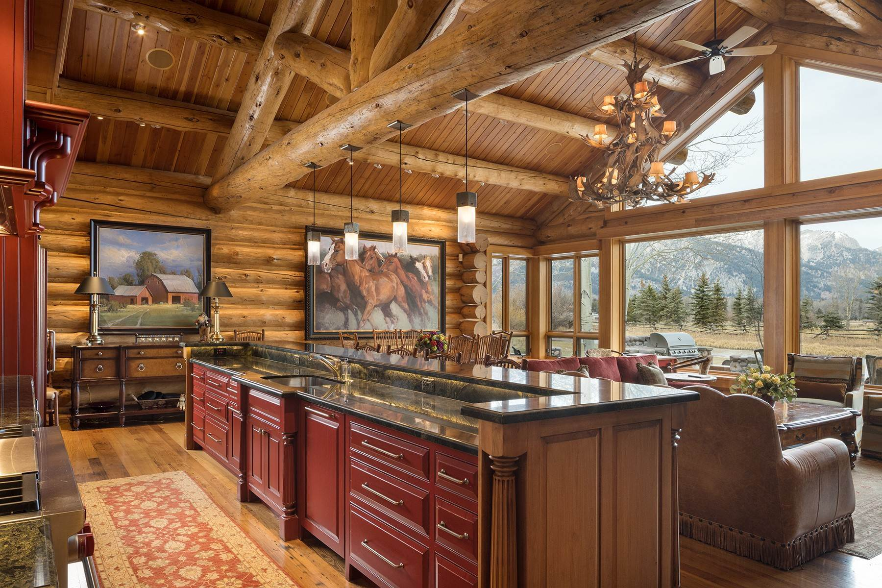 10. Single Family Homes for Sale at 6670 Lower Cascade Drive Jackson, Wyoming 83001 United States