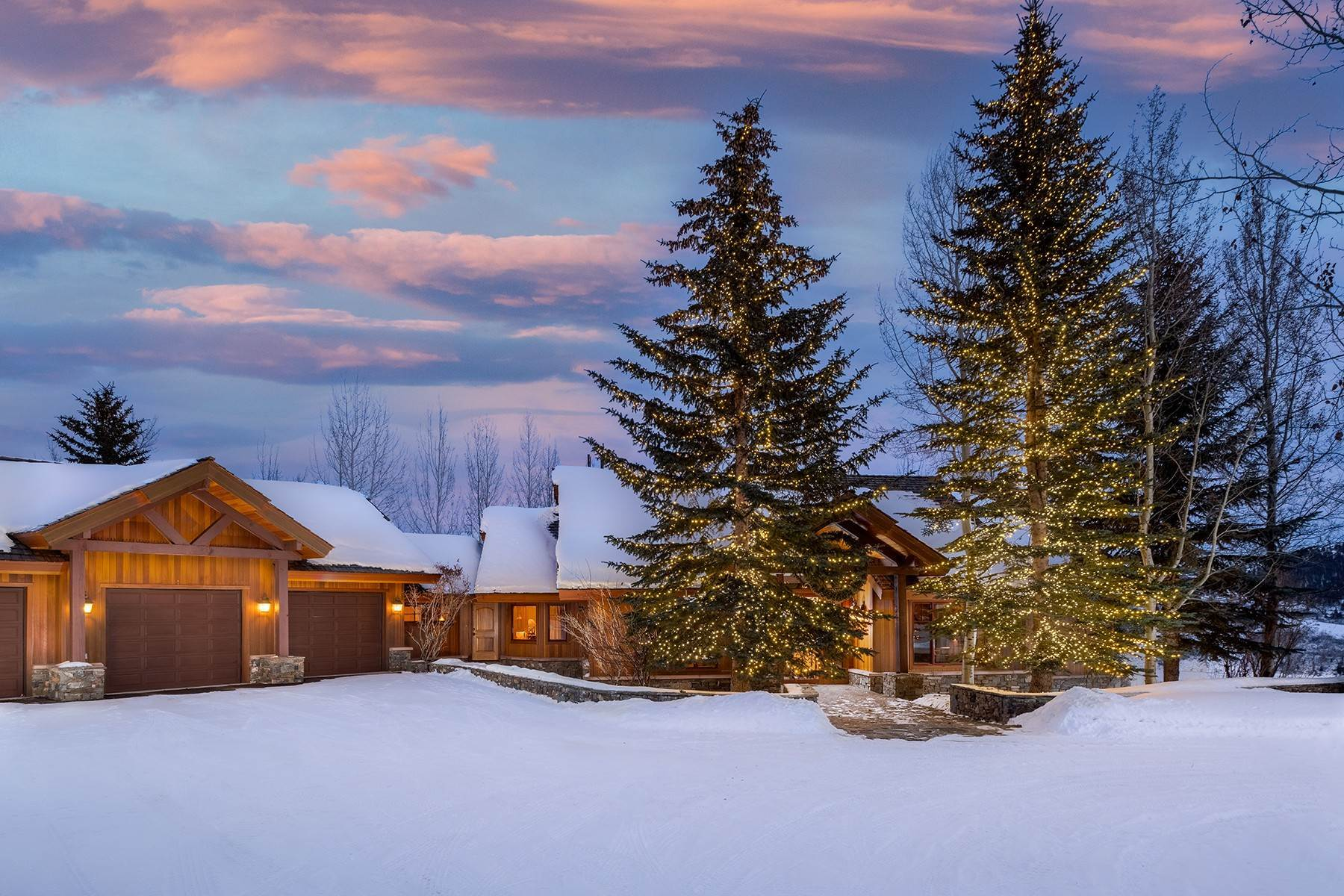 Single Family Homes for Sale at Private Retreat in Gros Ventre North 1750 N Blacktail Road Jackson, Wyoming 83001 United States