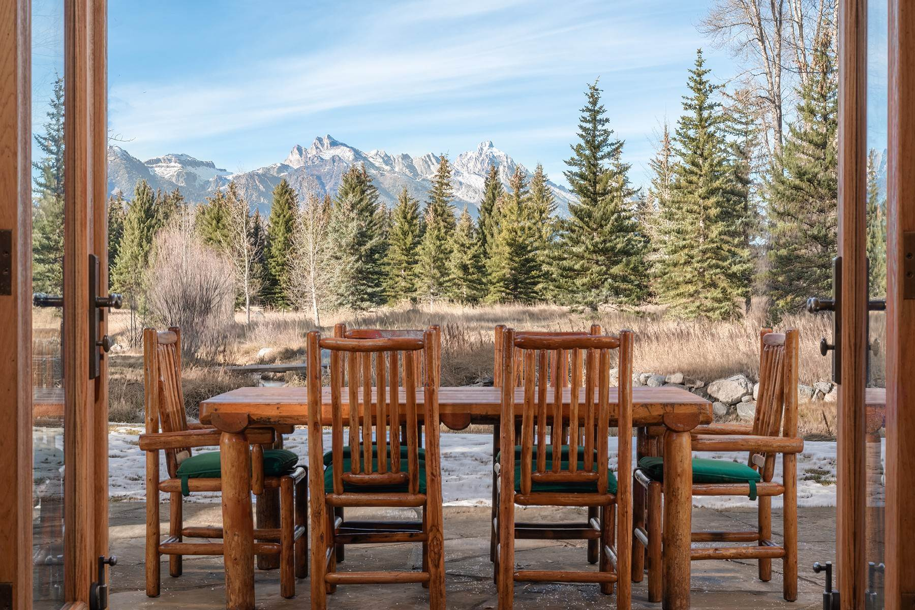 48. Single Family Homes for Sale at Elk Run Estate 1345/1245 Bugling Elk Trail Jackson, Wyoming 83001 United States