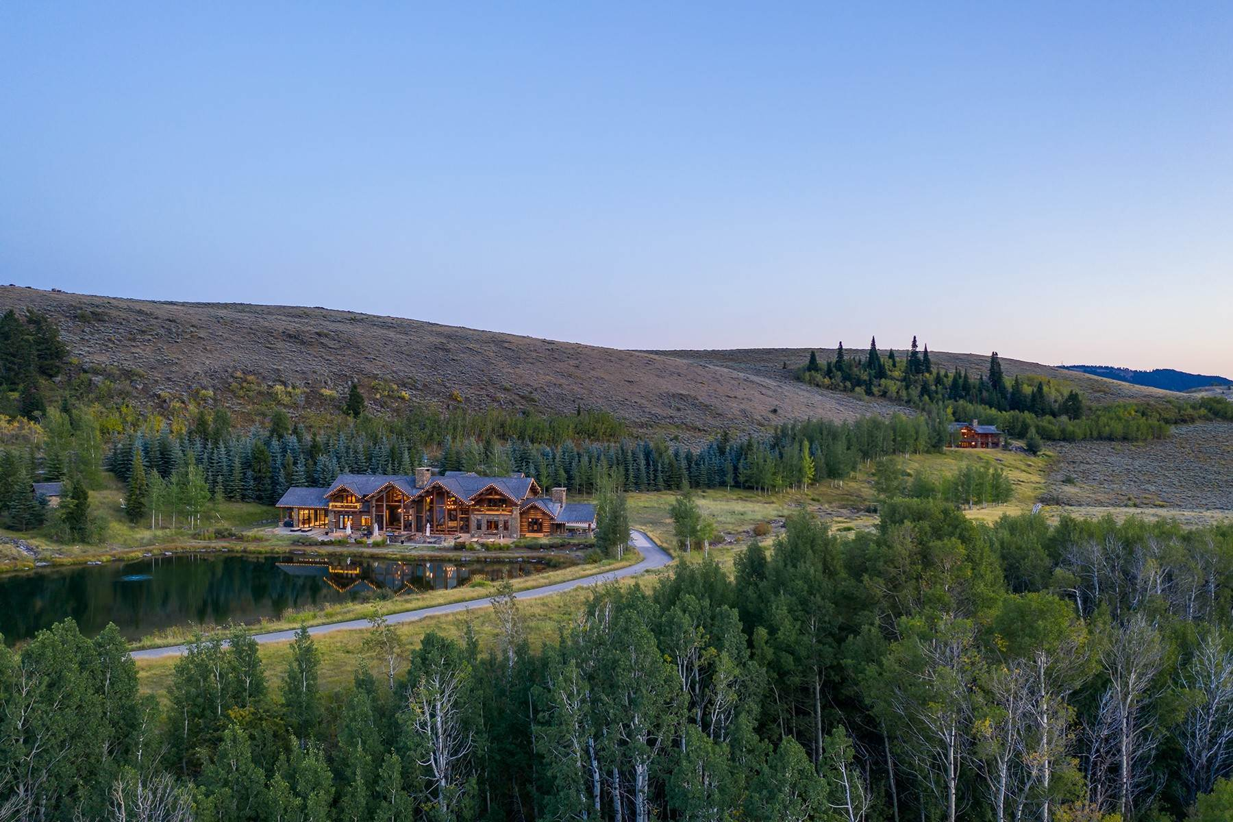 5. Single Family Homes for Sale at Riva Ridge Retreat, Residence of Western Grandeur 3000 Riva Ridge Road Jackson, Wyoming 83001 United States