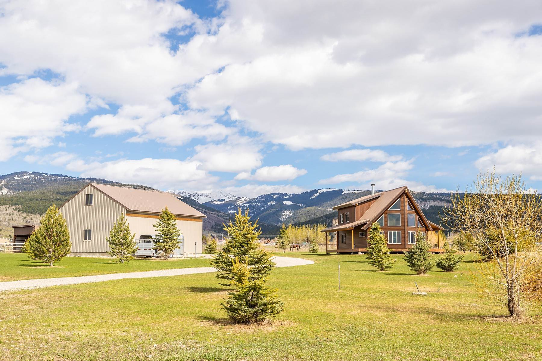Single Family Homes for Sale at Rare Victor Offering on 8+ Acres 4399 Barrel Roll Trail Victor, Idaho 83455 United States